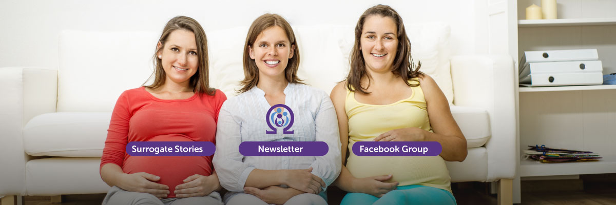 Surrogate Stories, Newsletter & Facebook Group